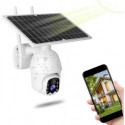 Telecamera IP CAM DOME 1080P con pannello solare uso scheda SIM 3G 4G Sensore PIR Motorizzata IP invia Notifiche Push Lente 4mm