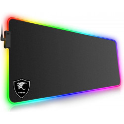 Tappetino Mouse Gaming, RGB Grande Mouse Pad con Effetti Luce XXL 800*300*4mm